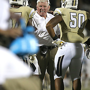 ORLANDO, FL - OCTOBER 09:  UCF head coach George O'Leary yells at his players during an injury timeout at Bright House Networks Stadium on October 9, 2014 in Orlando, Florida. (Photo by Alex Menendez/Getty Images) *** Local Caption *** George O'Leary