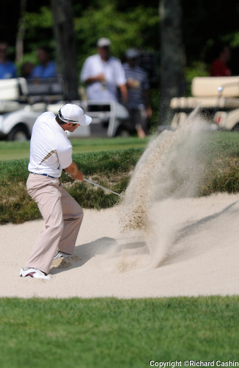 29 Aug 2008:  Trevor Immelman gets out of a bunker during the first-round of the PGA Deutsche Bank Championship at the TPC Boston in Norton, MA.