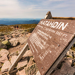 On Mount Katahdin, August 17, 2018. Baxter State Park, Maine.