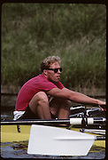 Molesey, Great Britain. GBR M4+, Bow Steve TURNER, 1992 British International Rowinig Training on the Molesey Reach, Surrey,  [Mandatory Credit. Peter Spurrier/Intersport Images] +1992 +Molesey +Henley 1992 GBRowing Training, Molesey/Henley, United Kingdom