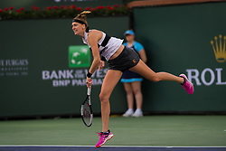 March 9, 2019 - Indian Wells, USA - Petra Kvitova of the Czech Republic in action during her second-round match at the 2019 BNP Paribas Open WTA Premier Mandatory tennis tournament (Credit Image: © AFP7 via ZUMA Wire)