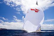 W Class Wild Horses sailing in the Windward Race at the Antigua Classic Yacht Regatta.