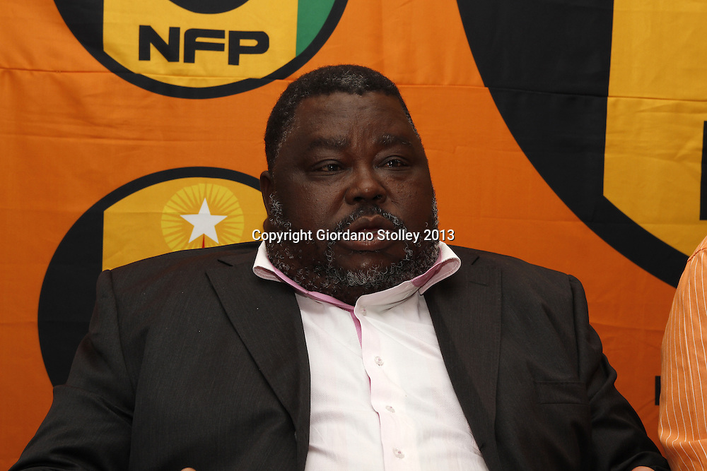 DURBAN - 28 August 2013 - Jeremiah Mavundla, the National Freedom Party mayor of Nongoma attends a press conference that its councillors in KwaZulu-Natal have been offered baghs of money to dump the party ahead of the 2014 national election. Picture: Allied Picture Press/APP