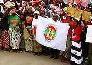 Supporters of the african women league (LIMA), during a demonstration/rally, held at the Independence Square in Luanda at 25 August.