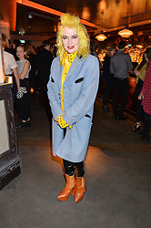 PAM HOGG at the Fashion Targets Breast Cancer 20th Anniversary Party held at 100 Wardour Street, Soho, London on 12th April 2016.
