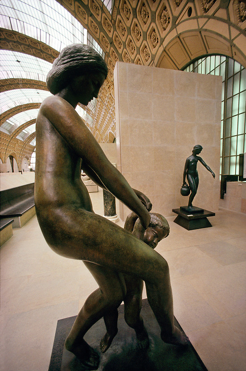 Sculptures in the Musee d'Orsay, Paris, France