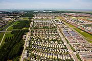 Nederland, Flevoland, Almere, 14-07-2008; Almere Buiten, Regenboogbuurt en Bloemenbuurt; planning, planmatig, ontwerp, ontwerpen, uniformiteit, patroon, stramien, raster, stadsgroen. .luchtfoto (toeslag); aerial photo (additional fee required); .foto Siebe Swart / photo Siebe Swart