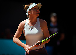 May 9, 2019 - Madrid, MADRID, SPAIN - Simona Halep of Romania in action during her quarter-final match at the 2019 Mutua Madrid Open WTA Premier Mandatory tennis tournament (Credit Image: © AFP7 via ZUMA Wire)