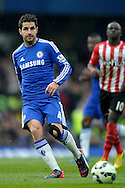 Cesc Fabregas of Chelsea passing the ball. Barclays Premier league match, Chelsea v Southampton at Stamford Bridge in London on Sunday 15th March 2015.<br /> pic by John Patrick Fletcher, Andrew Orchard sports photography.