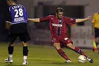 Fotball<br /> Frankrike 2004/05<br /> Istres v Paris Saint Germain<br /> 11. september 2004<br /> Foto: Digitalsport<br /> NORWAY ONLY<br /> SYLVAIN ARMAND (PSG) / ADEL CHEDL I(IST)