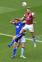 23 April 2017 - EFL Championship Football - Aston Villa v Birmingham City - Nathan Baker of Aston Villa wins a header - Photo: Paul Roberts / Offside