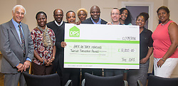 Finnsbury Park, London, September 12th 2016. DPS cheque handover to Back On Track Housing charity. ©Paul Davey<br /> FOR LICENCING CONTACT: Paul Davey +44 (0) 7966 016 296 paul@pauldaveycreative.co.uk