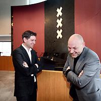 Nederland, Amsterdam , 3 april 2014.<br /> Lijsttrekkers Jan Paternotte van D66 in Amsterdam en Rutger Groot Wassink van Groen Links amsterdam.<br /> Foto:Jean-Pierre Jans