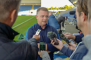 Coventry City Manager Mark Robins being interviewed after the EFL Sky Bet League 1 match between Oxford United and Coventry City at the Kassam Stadium, Oxford, England on 9 September 2018.