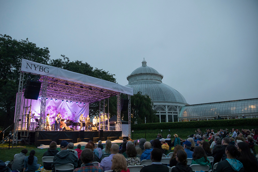 Jazz and Chihuly at the New York Botanical Gardens on July 14, 2017 in The Bronx