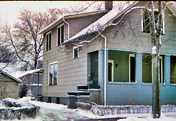 Caroline St. Pekin IL February 1960<br /> <br />  Photos taken by George Look.  Image started as a color slide.