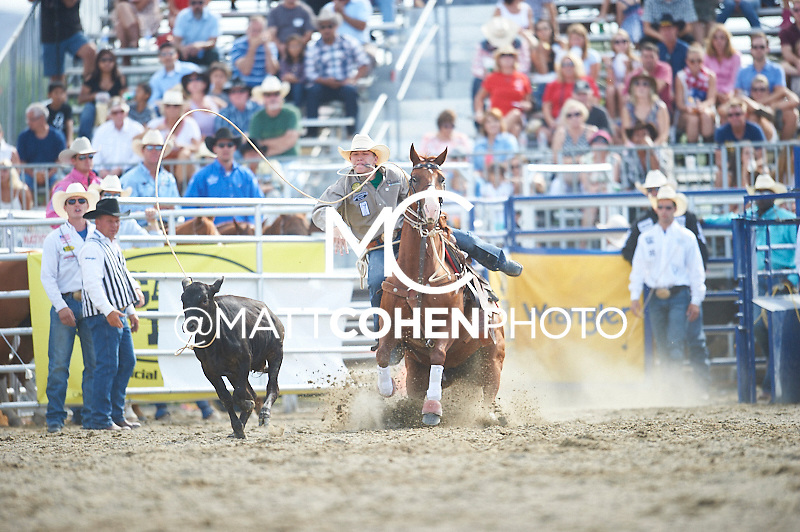 Tie-down roper Marty Yates of Stephenville, TX competes at the Rancho Mission Viejo Rodeo in San Juan Capistrano, CA.  <br /> <br /> <br /> UNEDITED LOW-RES PREVIEW<br /> <br /> <br /> File shown may be an unedited low resolution version used as a proof only. All prints are 100% guaranteed for quality. Sizes 8x10+ come with a version for personal social media. I am currently not selling downloads for commercial/brand use.