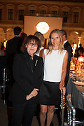 INGRID SICHY AND SANDRA BRANT, Italian Vanity Fair's 10 Anniversary celebration  hosted by Luca Dini. . Fondazione Cini, Isola di San Giorgio. Venezia.  1 September 2013