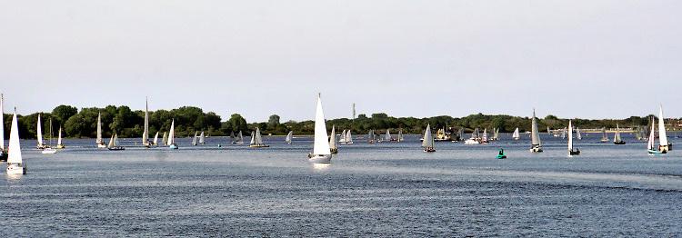 Nederland, Zeeland, Veere, 14-9-2019Veere is een stad, stadje aan het Veerse meer met een rijke historie . Het toerisme en de watersport is hier een belangrijke bron van inkomsten .Foto: Flip Franssen