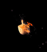 Flaming Sevivon (or Dreidel) a spinning top traditionally played during Chanukah