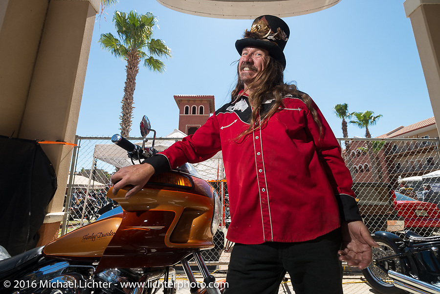 "Bean're at Warren Lane's ""True Grit"" pre-1977 vintage show at the Jester's Pavillion at Destination Daytona during the Daytona Bike Week 75th Anniversary event. FL, USA. Sunday March 6, 2016.  Photography ©2016 Michael Lichter."