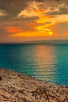 Salt deposits, Dead Sea, Jordan.