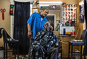 House Of Cutz, barbers on 3rd March 2020 in Montgomery, Alabama, United States. The barber, Mario, comes from Chicago but has worked in Montgomery for the last 10 years.