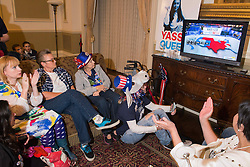 November 9, 2016 - Democratic Party supporters watch the election results live on TV at the Driskill Hotel, Austin Texas (Credit Image: © Sandy Carson via ZUMA Wire)