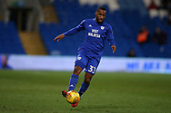 Junior Hoilett of Cardiff city in action . EFL Skybet championship match, Cardiff city v Preston North End at the Cardiff city stadium in Cardiff, South Wales on Friday 29th December 2017.<br /> pic by Andrew Orchard, Andrew Orchard sports photography.