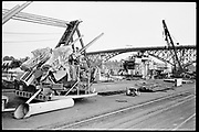 """Ackroyd 19047-R2-19 """"Zidell Exploration. Rochester Museum & Science Center"""" """"Scrapping USS Rochester. October 8, 1974"""""""