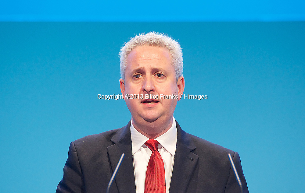 Labour Party Conference.<br /> Ivan Lewis Member of Parliament (MP) for Bury South during the Labour Annual Conference at the Brighton Conference Centre, Brighton, United Kingdom. Monday, 23rd September 2013. Picture by Elliot Franks / i-Images