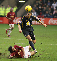 Photo: Mark Stephenson.<br />W<br />alsall v Bristol Rovers. Coca Cola League 2. 30/12/2006.<br />Rovers Andy Sandwell gets the better of Walsall's Chris Westwood.