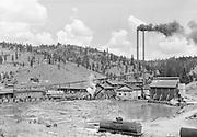 9305-A4616-2.  Kinzua Pine Mills Co. at Kinzua, Wheeler County, Oregon. early 1940s