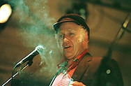 Sixties lifestyle guru Ken Kesey in a performance at the Queen's Hall, part of the Edinburgh Festival Fringe, part of the largest arts festival in the world which runs each August and attracts performers and audiences from across the world...........