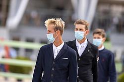 Thomas Gilles, Vereecke Andres, Spits Thibeau, BEL<br /> CSI 3* Grand Prix Azelhof - Lier 2020<br /> © Hippo Foto - Dirk Caremans<br /> 26/07/2020