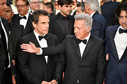 Dustin Hoffman, Ben Stiller attending the 'The Meyerowitz Stories (New and Selected)' premiere during the 70th Cannes Film Festival on May 21, 2017 in Cannes, France. Photo by Julien Zannoni/APS-Medias/ABACAPRESS.COM
