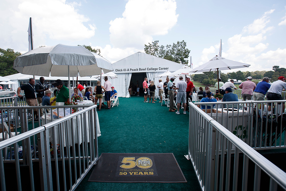 General images at the Peach Bowl College Corner at the PGA your Championship held at East Lake Golf Course, Thursday, September, 26, 2017. (Paul Abell via Abell Images for Peach Bowl)