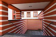 the Naumann housing estate in the district Riehl, built in the years 1927-1929, stairway, Cologne, Germany.<br /> <br /> die Naumannsiedlung im Stadtteil Riehl, in den Jahren 1927-1929 erbaut, Treppenaufgang, Koeln, Deutschland.