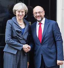 2016-09-22 Theresa May welcomes EU Parliament President Martin Schulz to Downing Street