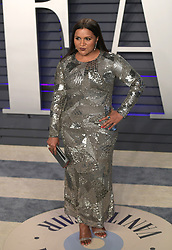 February 24, 2019 - Beverly Hills, California, U.S - Mindy Kaling on the red carpet of the 2019 Vanity Fair Oscar Party held at the Wallis Annenberg Center in Beverly Hills, California on Sunday February 24, 2019. JAVIER ROJAS/PI (Credit Image: © Prensa Internacional via ZUMA Wire)