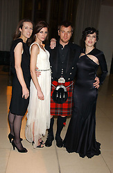 Left to right, CLARE WAIGHT-KELLER, LIBERTY ROSS, EWAN McGREGOR and SHARLEEN SPITERI at a Burns Night supper in aid of Clic Sargent & Children's Hospital Association Scotland hosted by Ewan McGregor, Sharleen Spieri and Lady Helen Taylor at St.Martin's Lane Hotel, 45 St Martin's Lane, London on 25th January 2006.<br /><br />NON EXCLUSIVE - WORLD RIGHTS