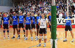 Team Salonit at finals of Slovenian volleyball cup between OK ACH Volley and OK Salonit Anhovo Kanal, on December 27, 2008, in Nova Gorica, Slovenia. ACH Volley won 3:2.(Photo by Vid Ponikvar / SportIda).