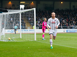 Ross County's Liam Boyce celebrates after scoring their goal. half time : Dundee 0 v 1 Ross County, SPFL Ladbrokes Premiership played 13/5/2017 at Dens Park.