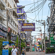 THA/Pattaya/20180722 - Vakantie Thailan straat met hotelsd 2018, Pattaya,