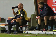 Marine defender David Raven (6) has a drink during the The FA Cup match between Marine and Tottenham Hotspur at Marine Travel Arena, Great Crosby, United Kingdom on 10 January 2021.