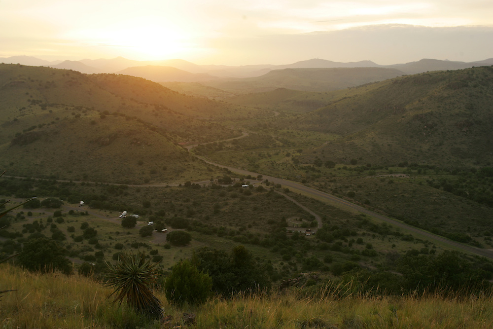 Sunset over Lympia Creek in the Davis Mountains