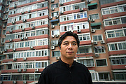 """Chinese film-maker and director Li Yang in Beijing. Li's films include """"Blind Shaft"""" and """"Blind Mountain,"""" both of which have been nominated for several awards. Li Yang's """"Blind Shaft,"""" a story about corruption and murder in China's notoriously dangerous coal mines, ran afoul of the authorities in 2003, though in his case even the length of the ban was unclear."""