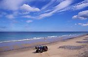 AMHK14 Cromer sandy beach Norfolk England