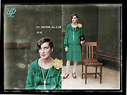 Vintage Mugshots in colour<br /> <br /> Mug shot of Fay Watson, 24 March 1928, Central Police Station, Sydney.<br /> <br /> Special Photograph no. D6, (Drug Bureau Photograph). Although no record for Fay Watson is found in the NSW Police Gazette for 1928, the Sydney Morning Herald (26 March 1928, p. 12) reports her arrest in a house in Crown Street, Darlinghurst, and subsequent conviction for having cocaine in her possession, for which she was fined ten pounds.<br /> ©Frédéric DurIiez/Exclusivepix Media