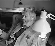 """9th May 1975<br /> <br /> J.P Donleavy being interviewed for """"Men Only"""" magazine at his home, Levington Park, Mullingar, County Westmeath."""